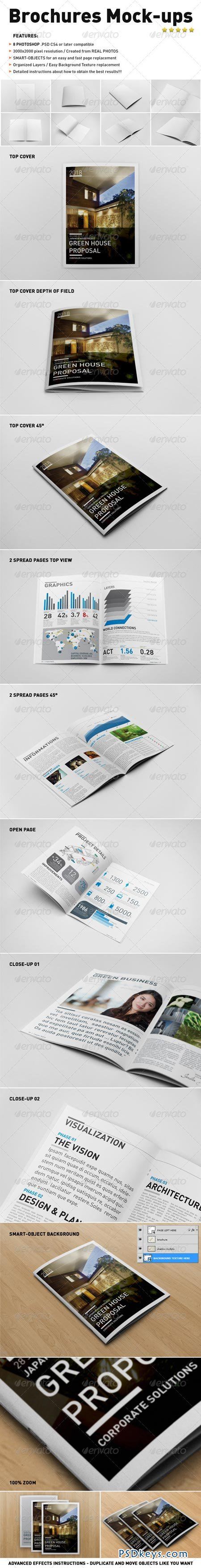 Photorealistic Brochure Mock-ups 3544158