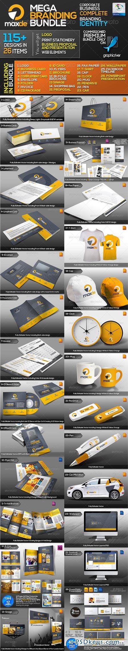 Maxde Corporate Business ID Mega Branding Bundle 3135141