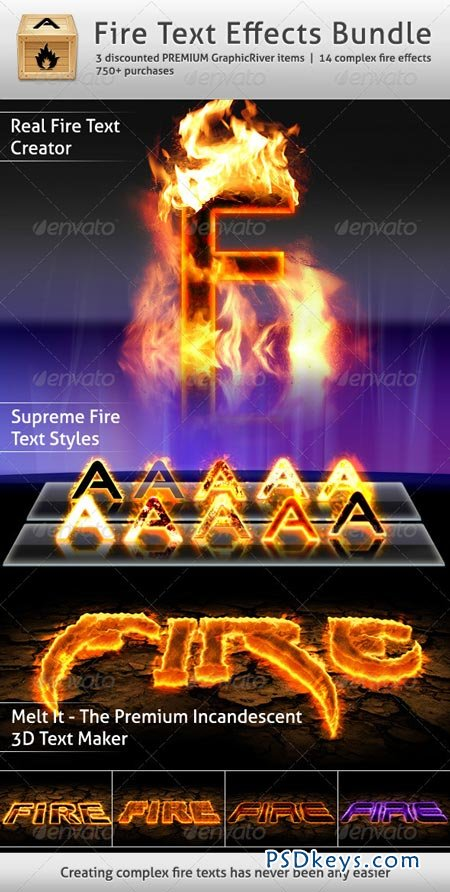 Fire Text Photoshop