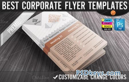 QR Codes 3D Pyramids Business Flyers 9932
