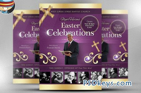 Easter Celebrations Flyer Template 17636 » Free Download Photoshop ...