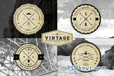 Vintage Logo Badge Templates 17591 » Free Download Photoshop ...