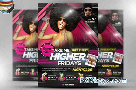 Take Me Higher Flyer Template 17443