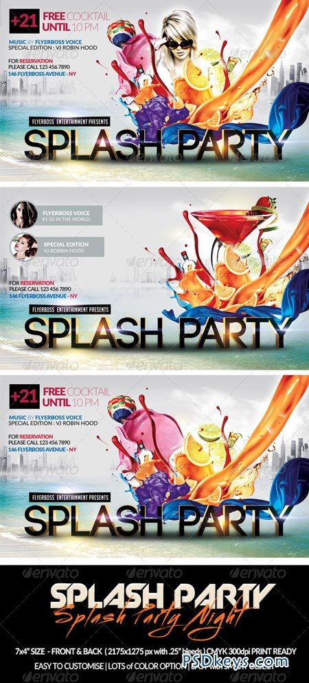 Splash Party Flyer-Front & Back 7636951