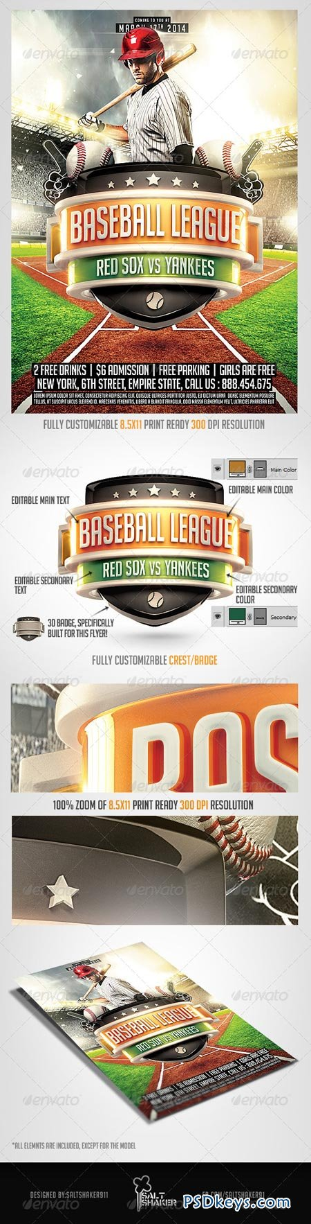 Baseball League Flyer Template 7104401 Free Download Photoshop – Baseball Flyer