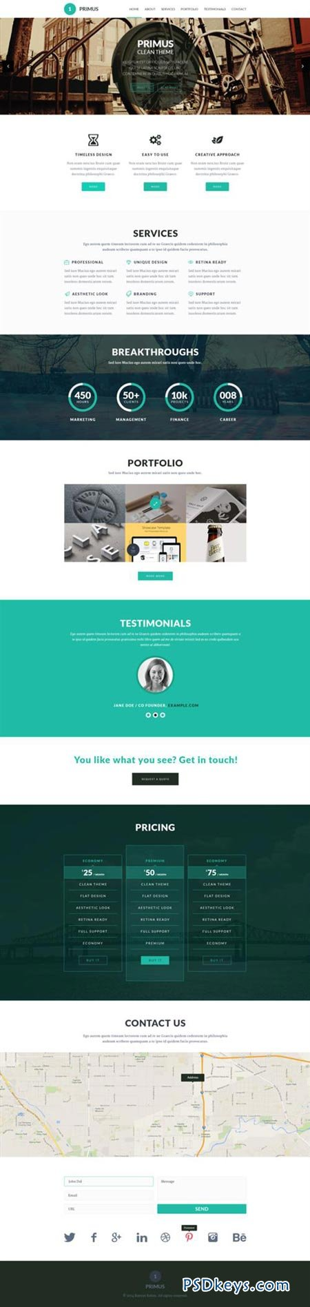 primus one page parallax template free download photoshop vector stock image via torrent. Black Bedroom Furniture Sets. Home Design Ideas