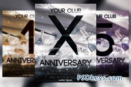 Anniversary Flyer 21258 » Free Download Photoshop Vector Stock