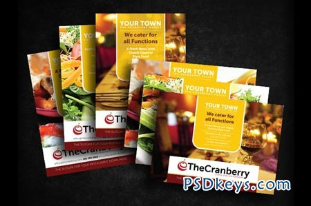 Cranberry Restaurant Advert Flyer 21434