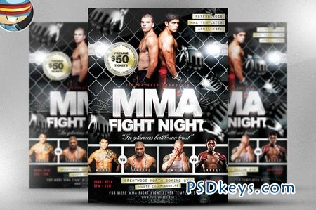 MMA Fight Night Flyer Template 21249