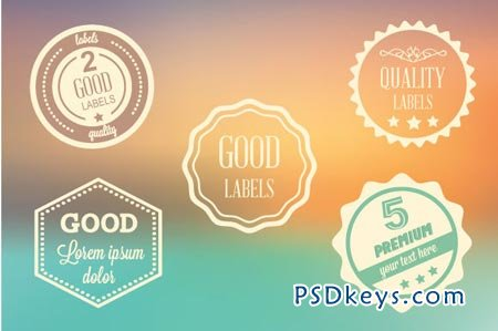 Vector labels set 20696