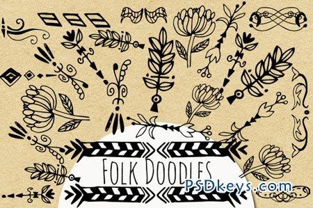 Folk Doodles 4978