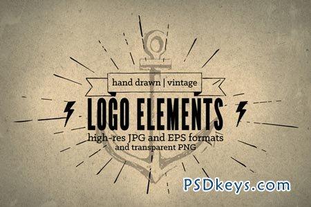 Drawn Vintage Logo Elements 34927
