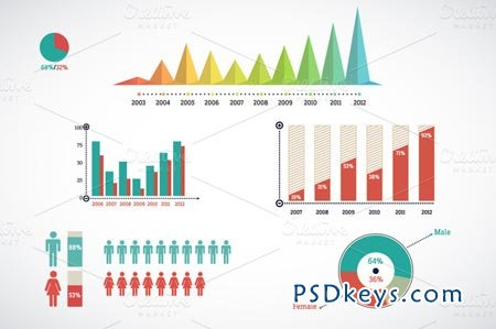 Detail infographic vector 1842