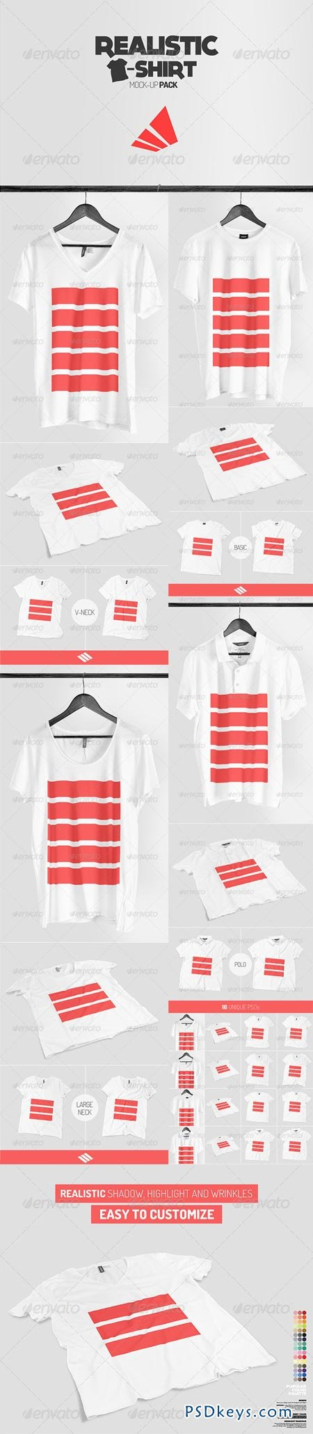 Realistic T-shirt Mock-up Pack 7325557