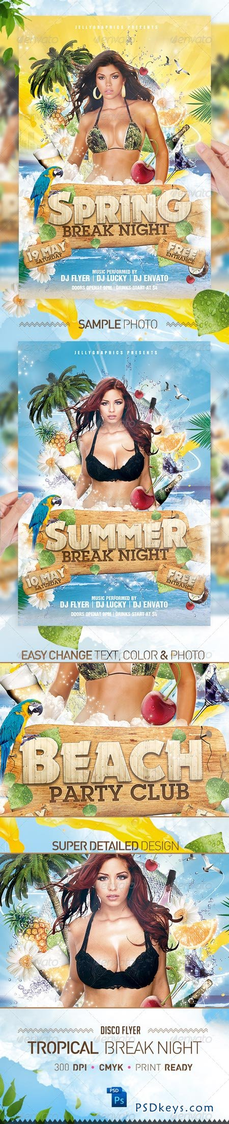 Tropical Spring Summer Beach Night Flyer Party 2224106
