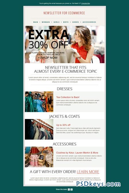 Fashion Ecommerce Newsletter PSD 41877