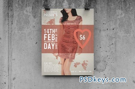 Valentines Day - Flyer Template 40636