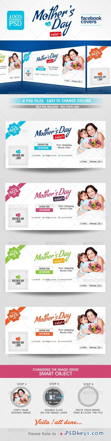 Mothers Day Facebook Cover 7688602
