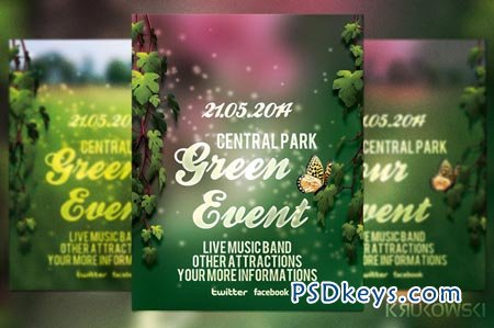 Green Event Flyer 39010