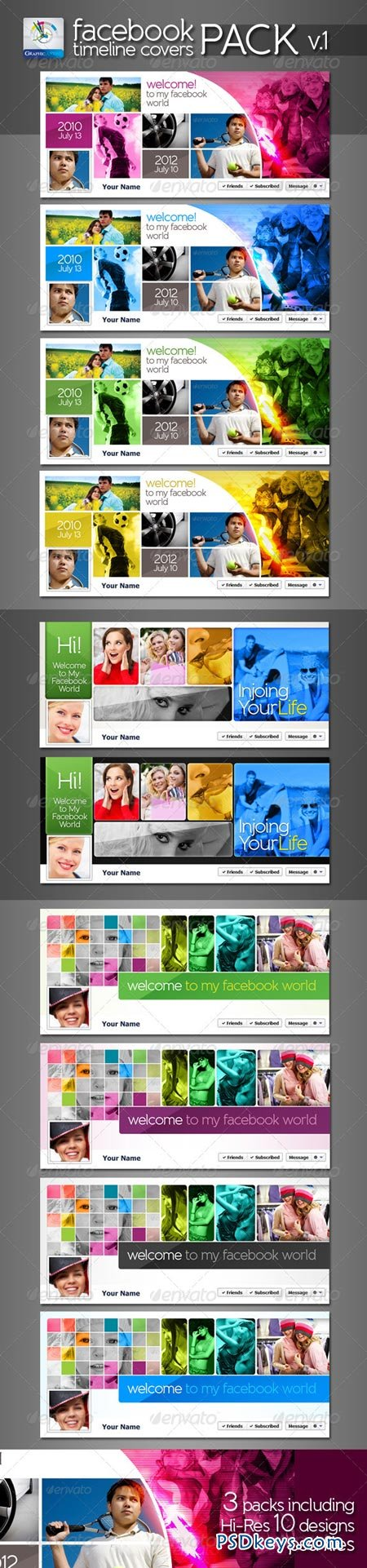 Modern Facebook Timeline Cover Pack v.1 2614426