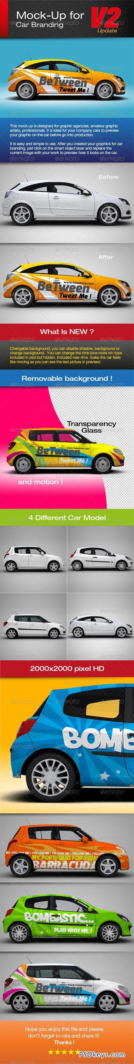 Car Branding Vector Mock-up For Car Branding