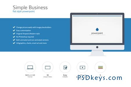Simple Flat Style PowerPoint 37888