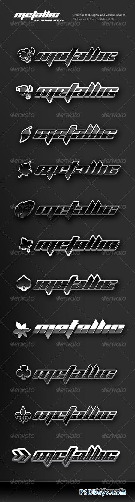Metallic Chrome Photoshop Styles 116361