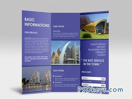 Simple Clean Tri Fold Brochure 43494