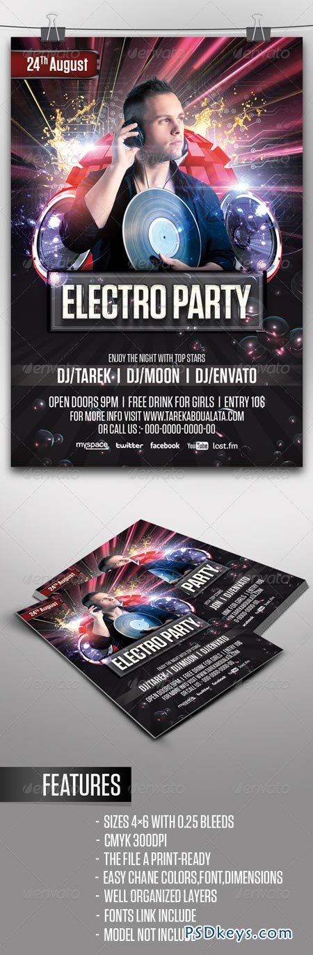 Electro Party Flyer 2813549
