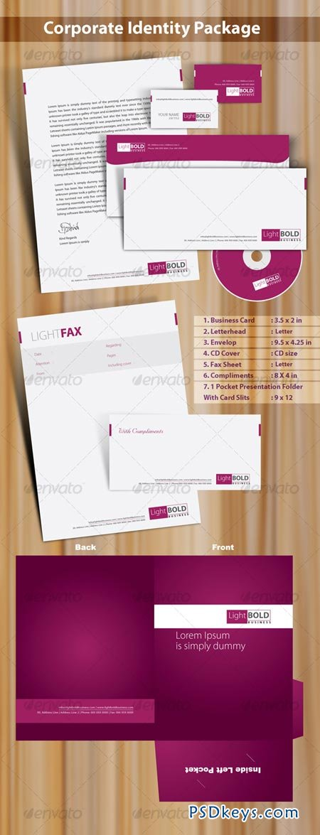 High quality print ready corporate identity 7 pack 56181