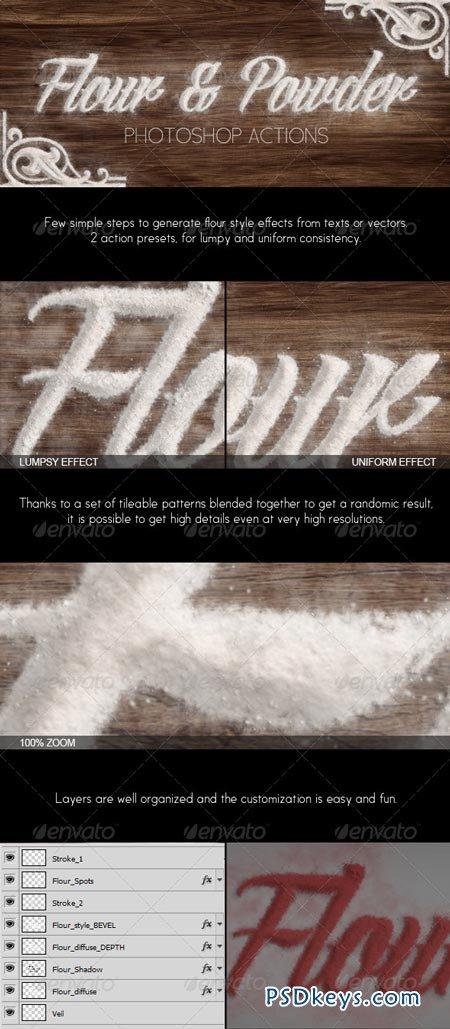 Flour & Powder - Photoshop Actions 6712507