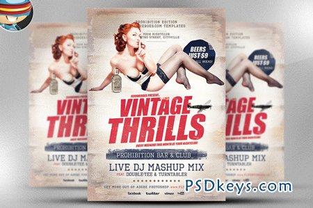 Vintage Thrills Flyer Template 42914