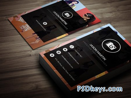 photography visiting card psd free download