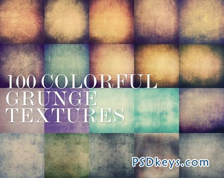 100 Colorful Grunge Textures 5000px 8083
