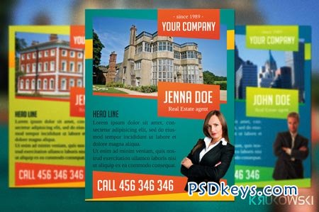Real Estate Agent Flyer 42830 » Free Download Photoshop Vector ...