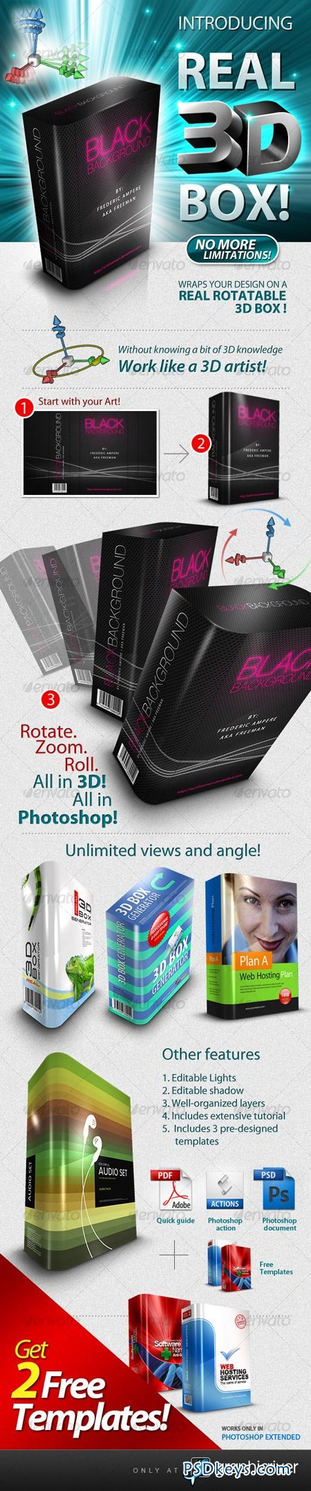 Real 3D Box Generator & Template! 105966