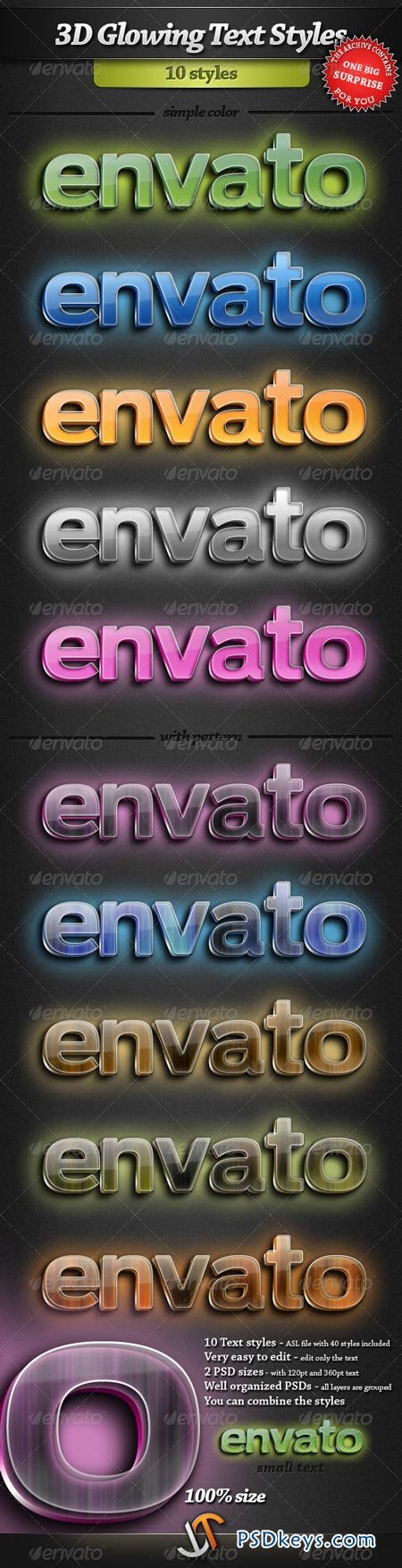 3D Glowing Text Styles 2238183