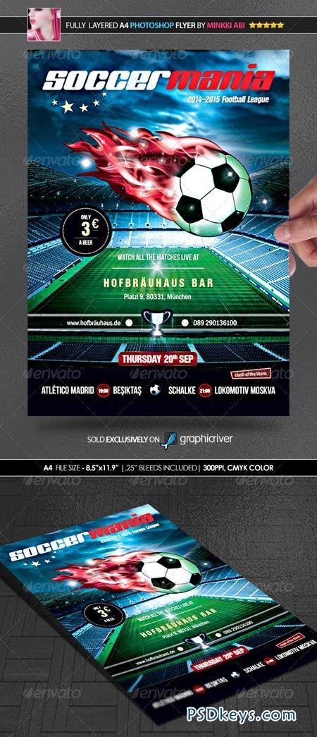 Soccer Mania (Football) Poster Flyer 2333032
