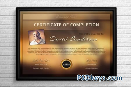 Modern certificate template 43841 free download photoshop vector modern certificate template 43841 yelopaper