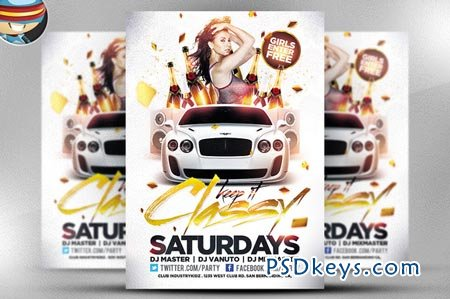 Keep it Classy PSD Flyer Template 22493