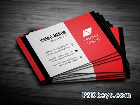 Creative Red Business Card 22604