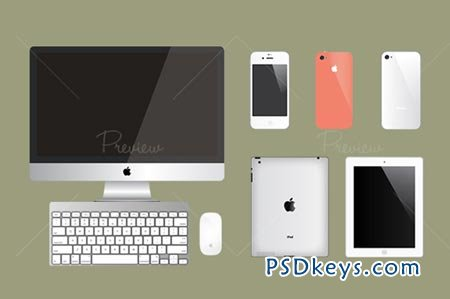 Apple Product Vector Mockups 29809