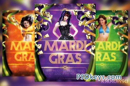 Mardi Gras Party Flyer 21171