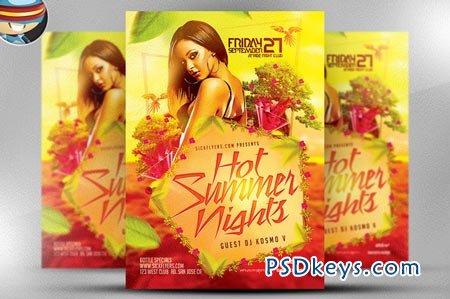 Hot Summer Nights Flyer Template 45591