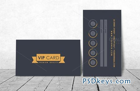 VIP Loyalty Card Template 45740