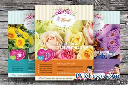 Flower Shop Flyer Templates 20921