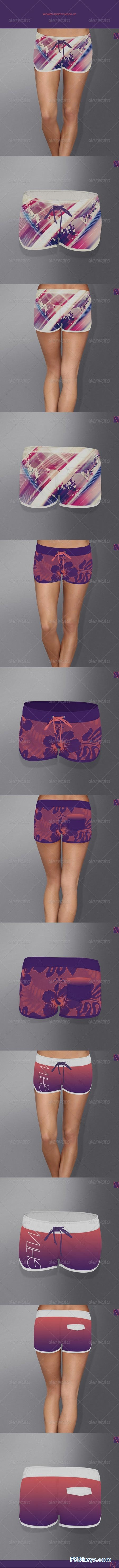 Women Shorts Mock-up 7707869