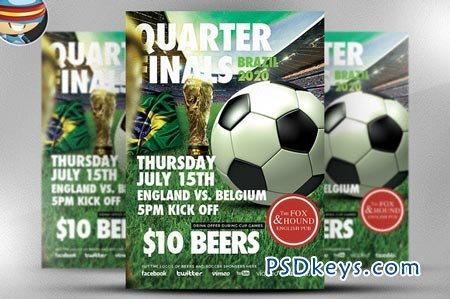 Soccer Flyer Template   Free Download Photoshop Vector Stock