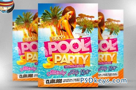 Pool Party Flyer Template 45594 Free Download Photoshop Vector