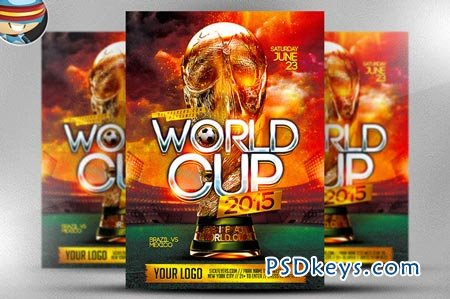 World Cup Flyer Template 1 45507 » Free Download Photoshop Vector